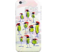 GREEN AND BLACK REDTOP BIRDS iPhone Case/Skin