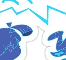 Gamma Blue 11s shirt-Rugratchets Jordan XI SneakerTees Sticker