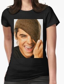 Zac Efron Cute Womens Fitted T-Shirt