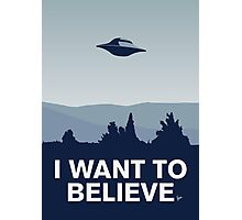 My I want to believe minimal poster-xfiles Photographic Print
