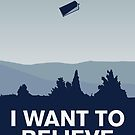 My I want to believe minimal poster-tardis by Chungkong