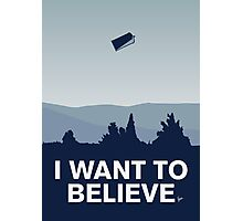My I want to believe minimal poster-tardis Photographic Print