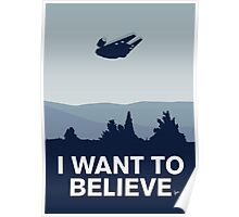 My I want to believe minimal poster-millennium falcon Poster