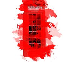 Red Telephone Splatter Box by Olivia Lu