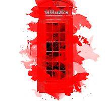 Red Telephone Splatter Box by Olivia Lu