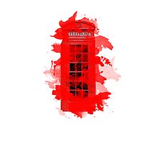 Red Telephone Splatter Box Photographic Print