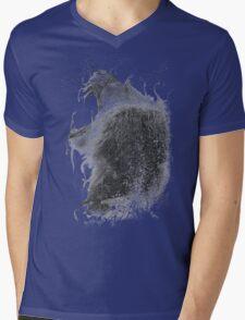 DARK LION Mens V-Neck T-Shirt