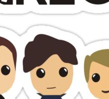 Five's a Crowd Sticker