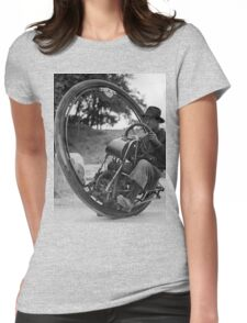 One Wheeled Motorcycle Womens Fitted T-Shirt