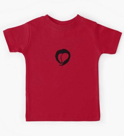 Ink Heart in Red Kids Tee