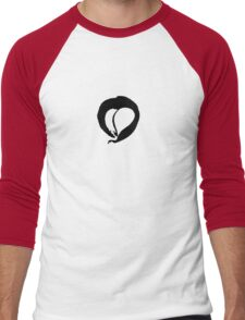 Ink Heart in Red Men's Baseball ¾ T-Shirt