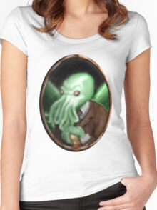 Portrait of Cthulhu Women's Fitted Scoop T-Shirt