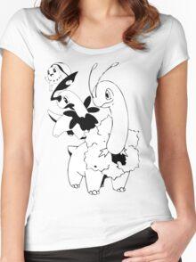 Chikorita Evolution Line Women's Fitted Scoop T-Shirt