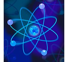 Vibrant Blue Atomic Structure Photographic Print