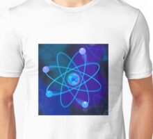 Vibrant Blue Atomic Structure Unisex T-Shirt