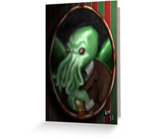 Portrait of Cthulhu Greeting Card