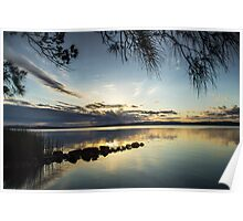 Sunset over the Lakes Poster