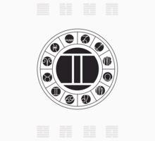 Gemini Zodiac Wheel with I Ching Hexagrams by Chris Hopkins