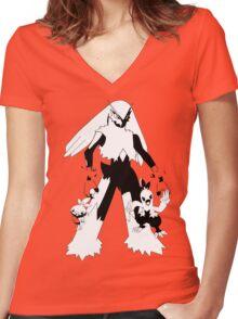 Torchic Evolution Line Women's Fitted V-Neck T-Shirt