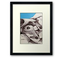 Mount Fabric Covered in Snow Framed Print