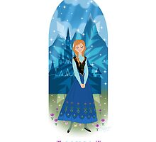Frozen Anna Art by N1K0VE