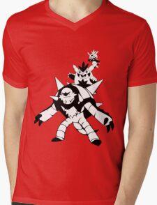 Chespin Evolution Line Mens V-Neck T-Shirt