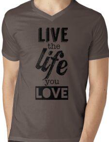 Live Life Love Mens V-Neck T-Shirt