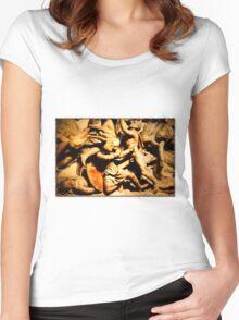 Persian archer, Alexander Sarcophagus Women's Fitted Scoop T-Shirt