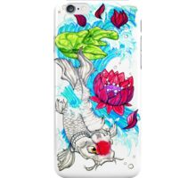 the alabaster koi iPhone Case/Skin