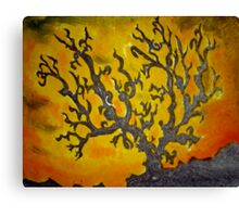 Tree Mono-Type #3 Canvas Print
