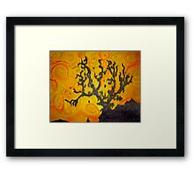 Tree Mono-type #4 Framed Print