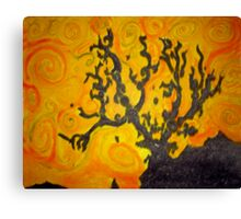 Tree Mono-type #4 Canvas Print