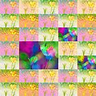Happy Spring Tulips Flower Collage by Mariannne Campolongo