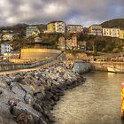 Ventnor Sunset Panorama by manateevoyager