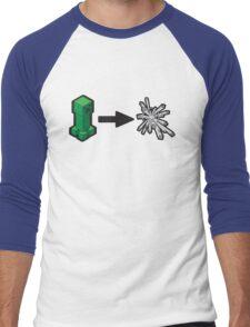 Creeper goes Boom - Minecraft Men's Baseball ¾ T-Shirt