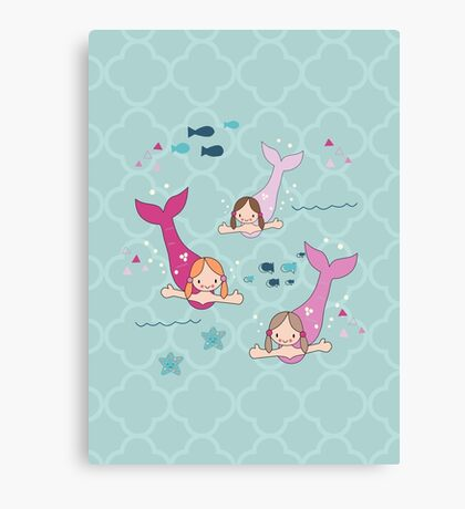Three Mermaids Canvas Print
