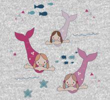 Three Mermaids One Piece - Short Sleeve