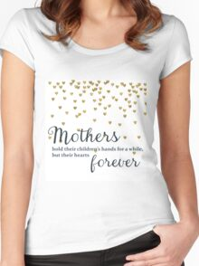 Mothers hold their Children's Hands Women's Fitted Scoop T-Shirt