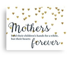 Mothers hold their Children's Hands Canvas Print