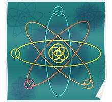 Celtic Line Atomic Structure Poster