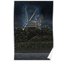 Horsey windmill Poster
