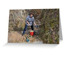 Prospecting in Golden Gully - Hill End NSW Australia Greeting Card