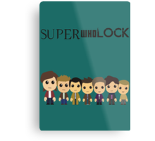 SupercuteWhoLock Metal Print