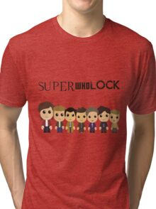 SupercuteWhoLock Tri-blend T-Shirt