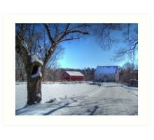 West Virginia Snow Scene Art Print