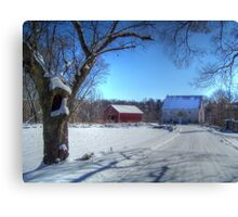 West Virginia Snow Scene Canvas Print