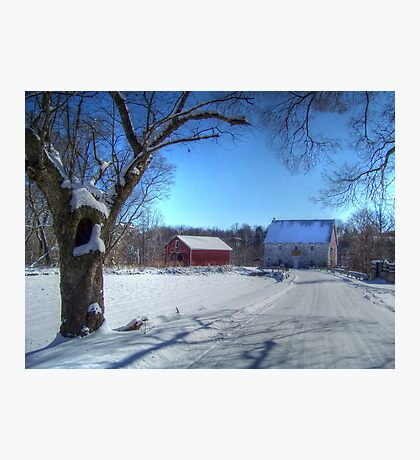 West Virginia Snow Scene Photographic Print