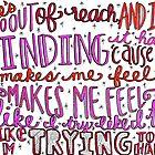Try Hard Lyrics by maddiedrawings