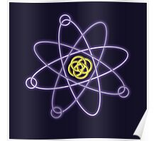 Glowing Atomic Structure Poster
