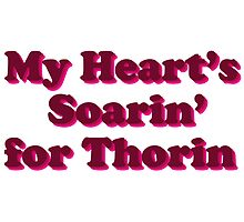 My Heart's Soarin' for Thorin - pink by artandrhinos